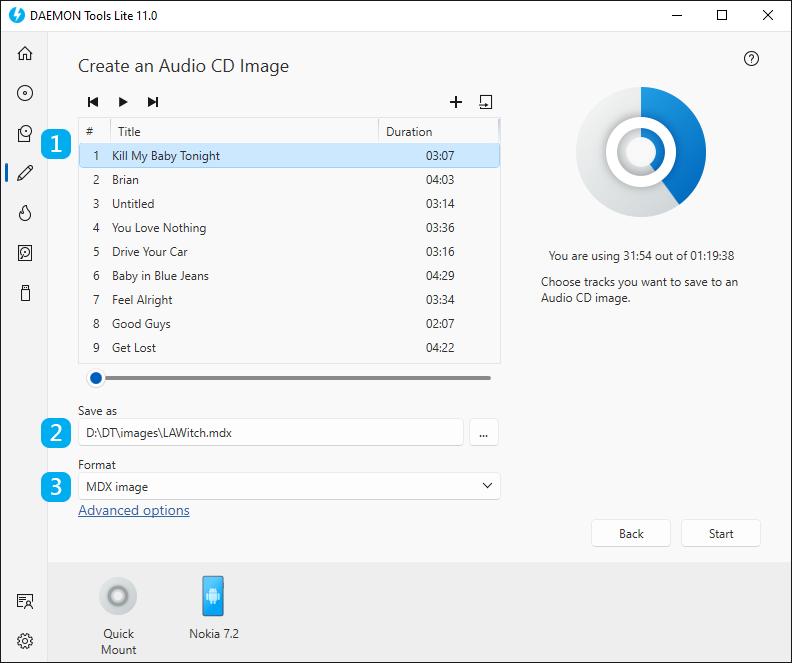 create an audio cd image daemon tools lite help