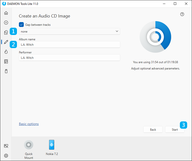 Create an Audio CD Image