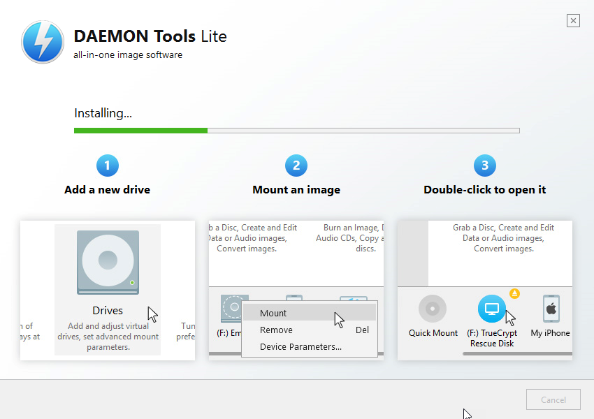 Daemon tools lite stuck updating virtual devices